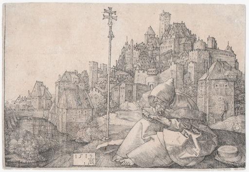 Albrecht DÜRER - Stampa-Multiplo - Sant'Antonio che legge