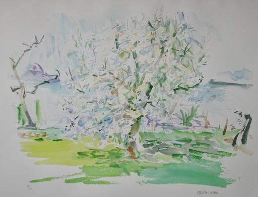 Oskar KOKOSCHKA - Print-Multiple - Blühender Apfelbaum