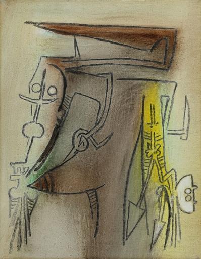 Wifredo LAM - Peinture - Retrato