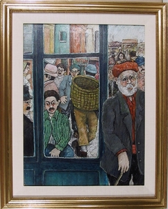 David AZUZ - Pintura - Vue De Rue A Istambul