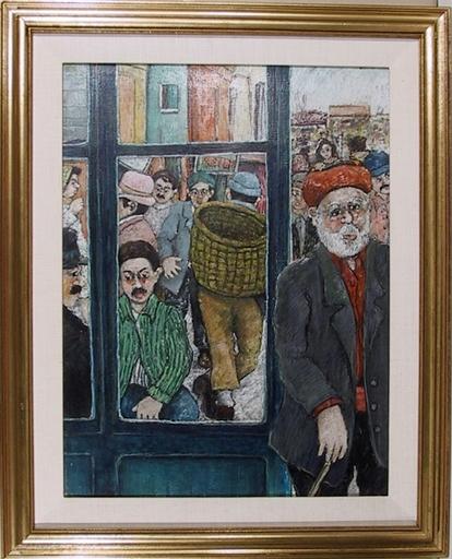 David AZUZ - Peinture - Vue De Rue A Istambul
