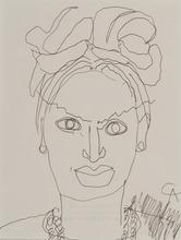Alexander CALDER - Dessin-Aquarelle - Portrait de femme