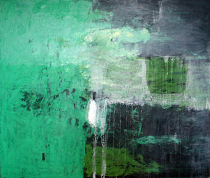Zurab GIKASHVILI - Painting - Green composition