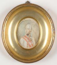 "Bertha Maria Th. THOMA - Miniatura - ""Holy Roman Kaiser Franz II"", Miniature on ivory, 1912/20"