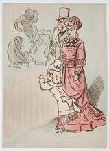 """Alfred GRÉVIN - Dessin-Aquarelle - """"Eight Drawings"""" by Alfred Grevin, late 19th century"""