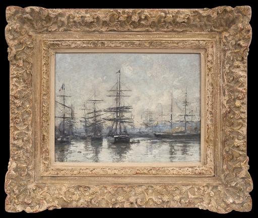 Eugène BOUDIN - Painting - Le Havre, L'Avant-Port