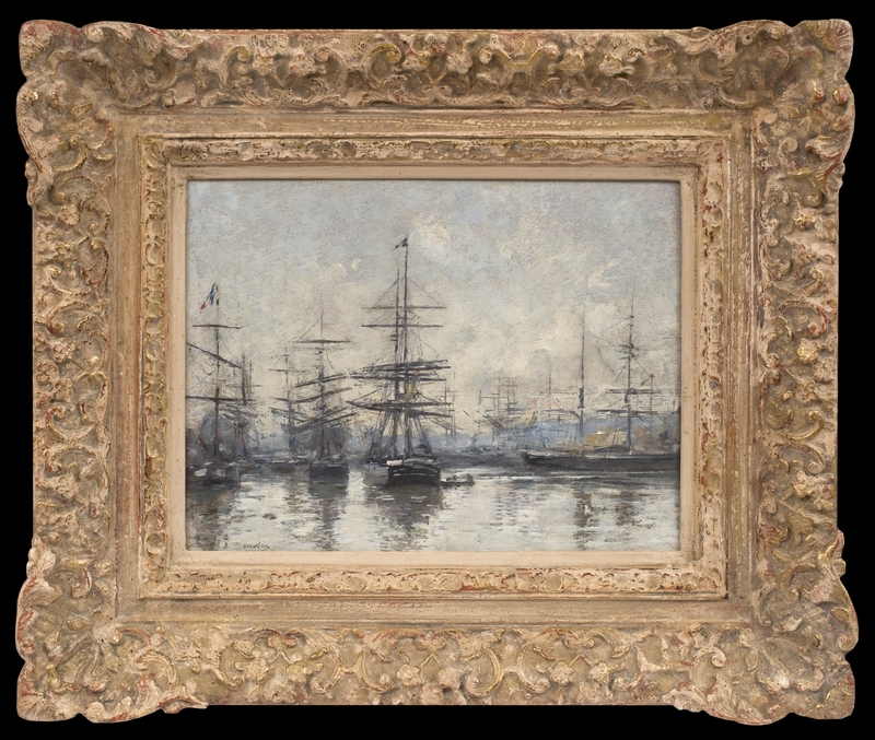 Eugène BOUDIN - Pintura - Le Havre, L'Avant-Port