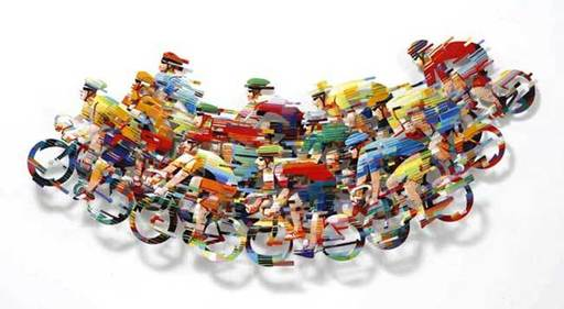 David GERSTEIN - Sculpture-Volume - Peloton Wave - part A