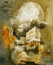 Roger SURAUD - Peinture - LES MYSTERES DE VENISE