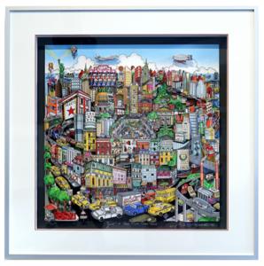 Charles FAZZINO - Druckgrafik-Multiple - Just a Cab Ride Crosstown