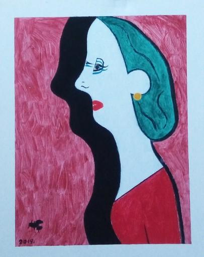 Harry BARTLETT FENNEY - Pittura - side view red