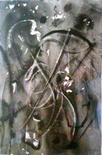 Willy BOERS - Disegno Acquarello - abstract composition