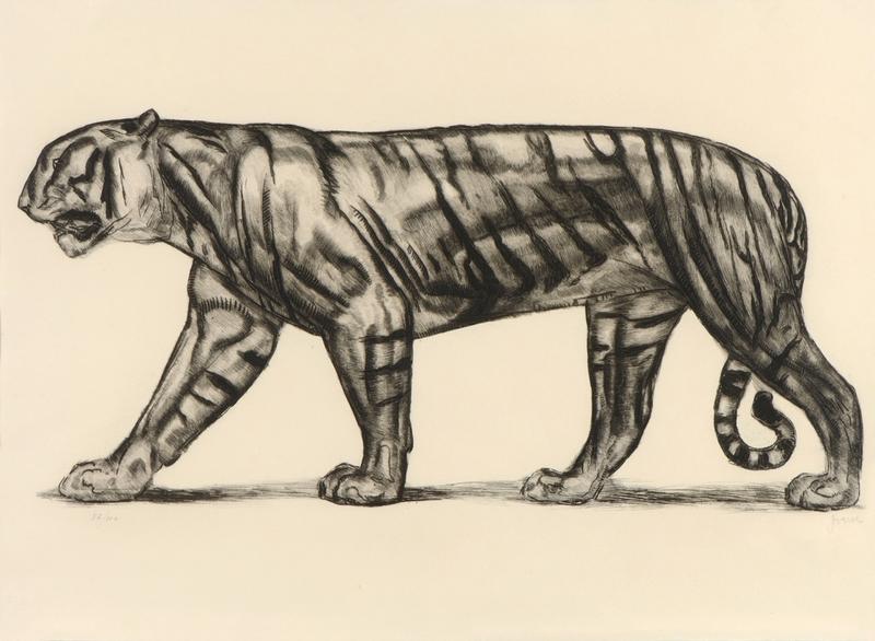 Paul JOUVE - Stampa Multiplo - Tigre