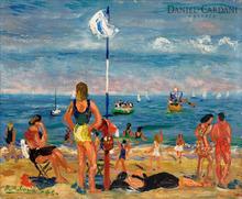 Benjamín PALENCIA PEREZ - Painting - Mañana de playa