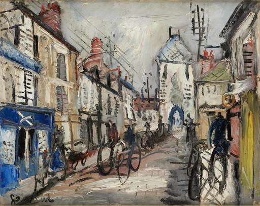 GEN PAUL - Peinture - Les vélos de Montmartre