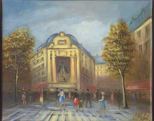 Michel PABOIS - 绘画 - HUILE / TOILE SIGNÉE HANDSIGNED OIL PAINTING PLACE ST MICHEL