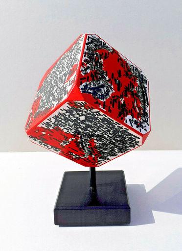 Emilio ISGRO - Skulptur Volumen - Mappamondo (rosso)