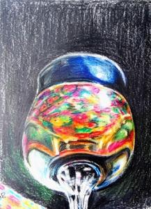Susanne SCHOLZ - Drawing-Watercolor - In vino veritas XI