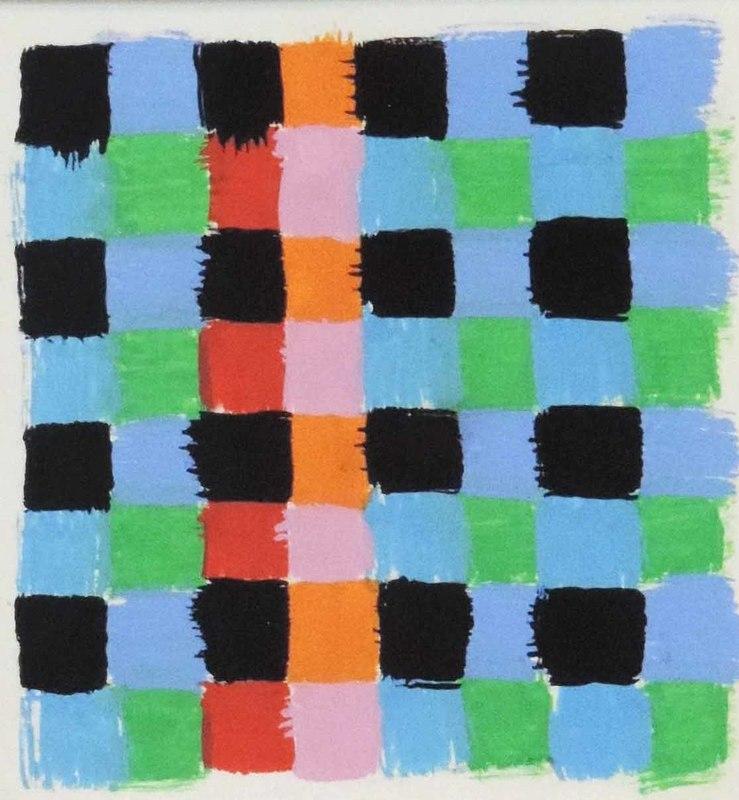 Aurélie NEMOURS - Drawing-Watercolor - Echiquier A 1