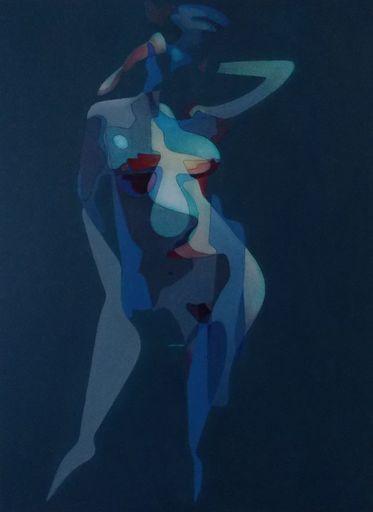 Milburn FOSTER - Painting - Girl posing