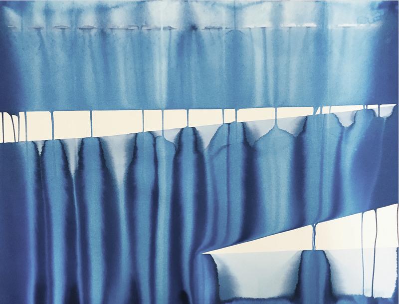 Martin REYNA - Drawing-Watercolor - Hangar (Ref 20194) (Abstract painting)