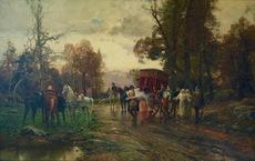 Cesare Augusto DETTI - Painting - A Safe Passage