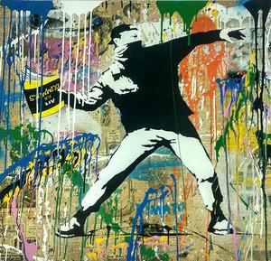 MR BRAINWASH - 绘画 - Banksy Thrower