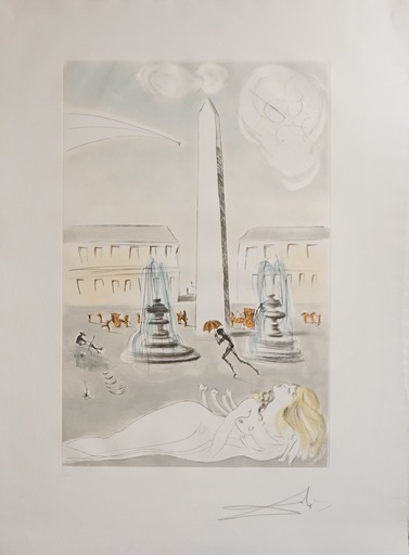 萨尔瓦多·达利 - 版画 -  Gala et L'Obelisque de la Concorde