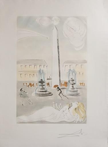 Salvador DALI - Stampa-Multiplo -  Gala et L'Obelisque de la Concorde