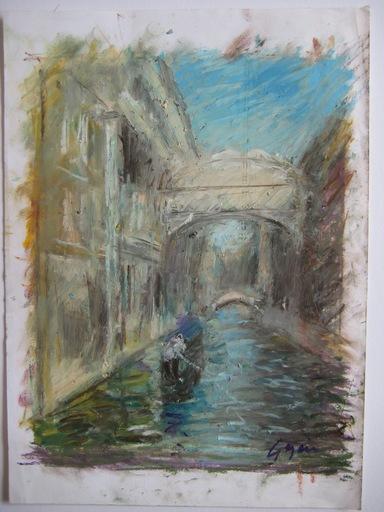 Pierre GOGOIS - Drawing-Watercolor - 5 DESSINS AU PASTEL GRAS SIGNÉS 5 SIGNED PASTEL DRAWINGS