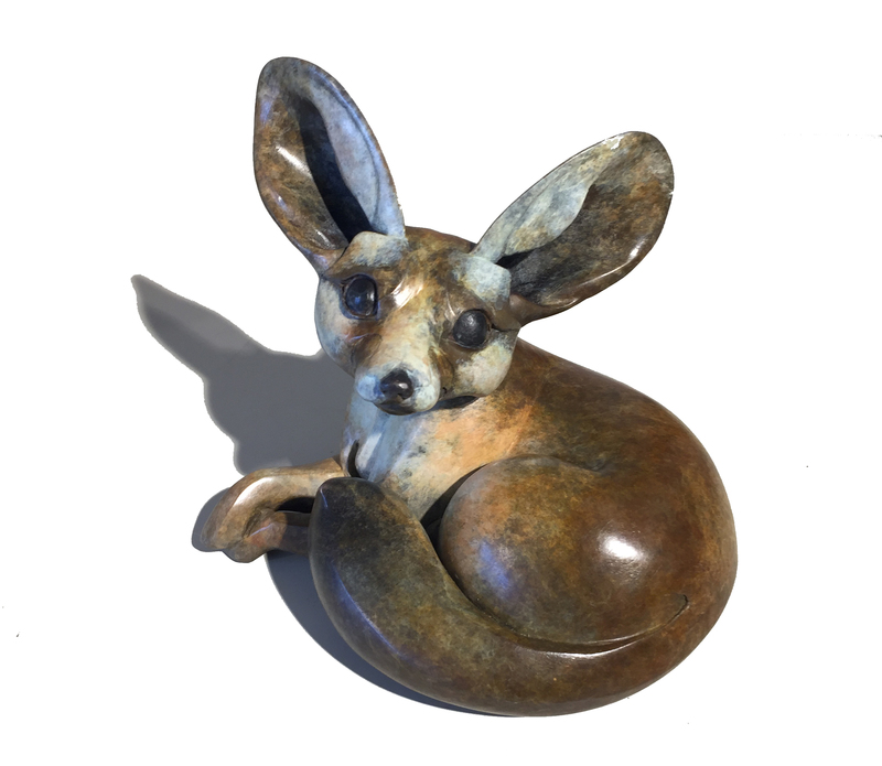 Chantal PORRAS - Sculpture-Volume - Fennec assis