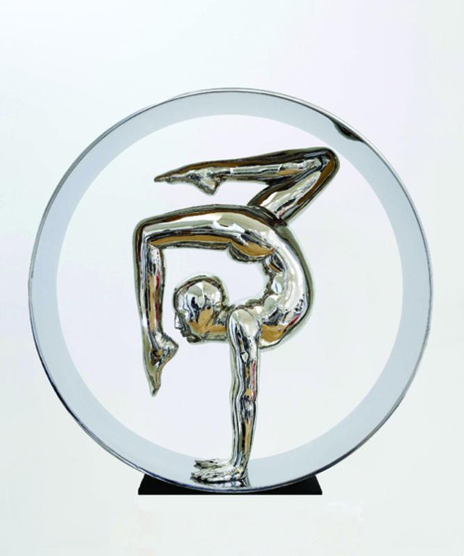 Mauro CORDA - Escultura - Contorsionniste au cercle