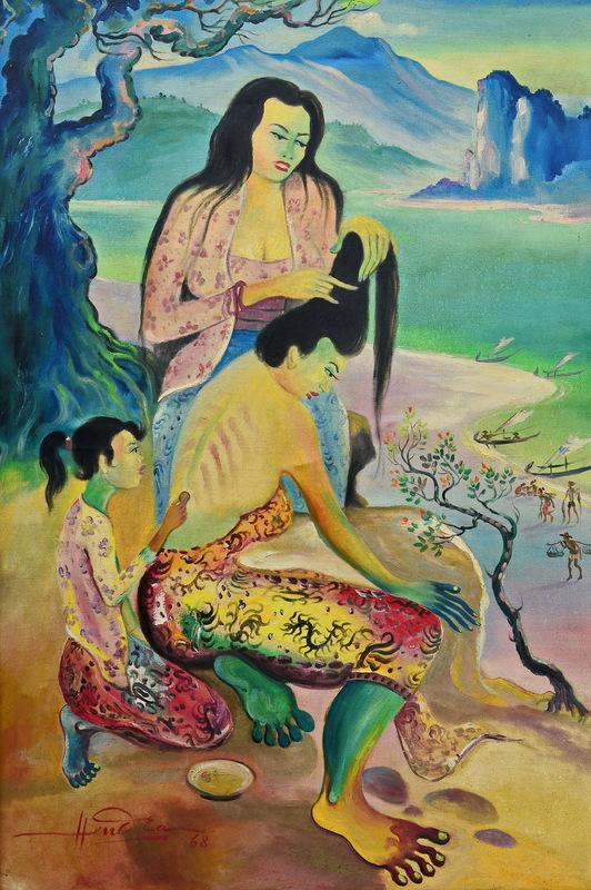 Hendra GUNAWAN - Pintura - Scrapping Back and Catching Flea