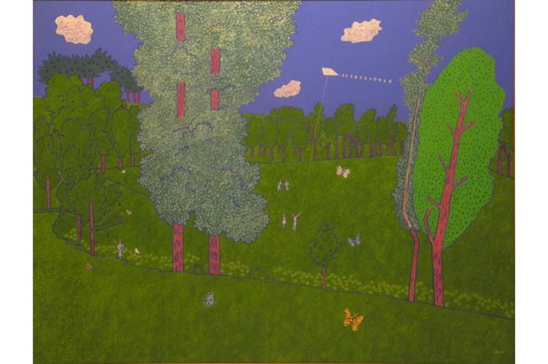Vincent BIOULES - Peinture - Le bel été