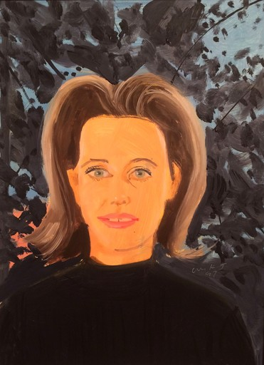 Alex KATZ - Painting - Study for black sweater