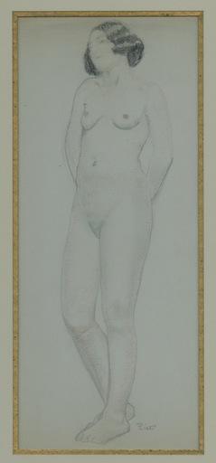 Fernand PIET - Dibujo Acuarela - DESSIN ORIGINAL AU CRAYON SIGNÉ ENCADRÉ HANDSIGNED DRAWING