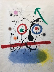 Joan MIRO - Estampe-Multiple - Le scieur de long