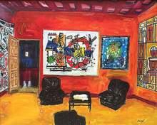 Carlos NADAL - Painting - Le Salon Rouge