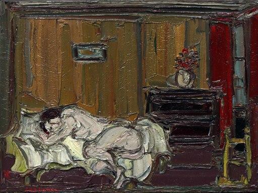 André COTTAVOZ - Gemälde - Nu dans la chambre