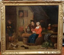 David II TENIERS - Painting - Pendant