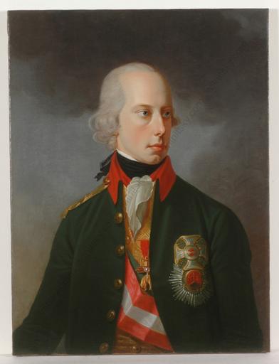 """Johann Baptist I VON LAMPI - Gemälde - """"Kaiser Franz II in Chevauleger Uniform"""", oil/canvas, late 1"""