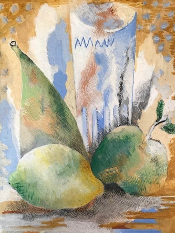 Serge FÉRAT - Drawing-Watercolor - Still life with glass