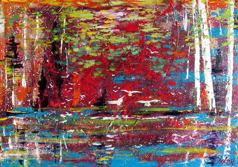 CHAGUY - Peinture - Le Trio