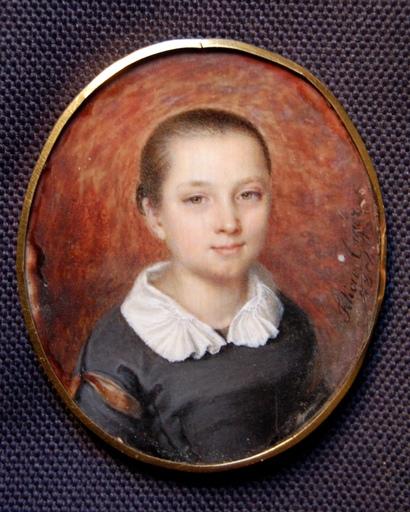 Félicie TIGER - Miniatura - Portrait d'une jeune fille