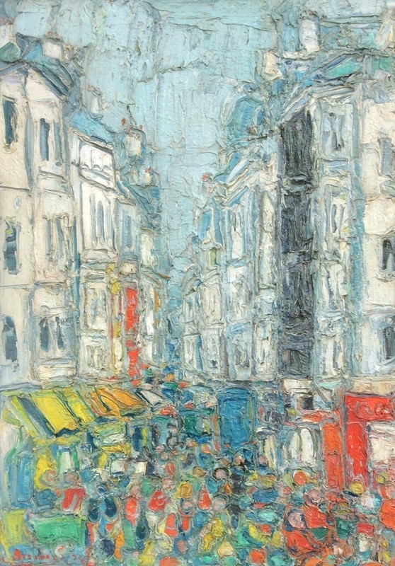 André COTTAVOZ - Painting - Paris