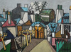 Claude VENARD - Pintura - View of Montmartre