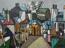 Claude VENARD - Peinture - View of Montmartre