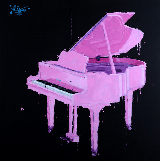 Sylvain LANG - Painting - Piano Rose