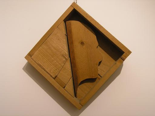 Mario CEROLI - Sculpture-Volume - Ritratto di Alberto Moravia