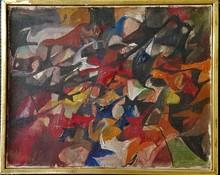 Jean-Paul RIOPELLE - Pittura - SANS TITRE - 1946